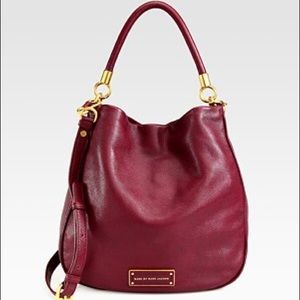 Gorgeous cranberry Marc by Marc Jacobs leather bag